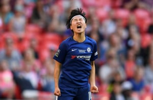Chelsea's Ji So-yun reacts.