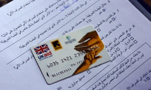 The International Rescue Committee provides cash assistance to Syrian refugees in Lebanon by means of an ATM bank card.
