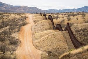 The border wall at Nogales, Arizona.