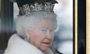 The Queen: at the centre of a nasty political row.