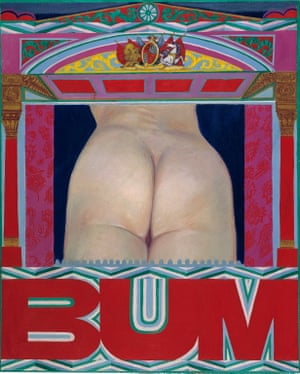 BUM, 1966, oil on canvas, by Pauline Boty.