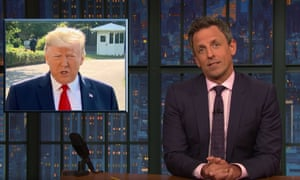 'Think about how much of a narcissist you have to be to tweet about how much better you are for TV ratings on the day when you're supposed to be consoling victims of a tragedy' ... Seth Meyers