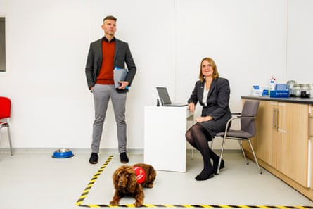 James Logan of the London School of Hygiene and Tropical Medicine and Claire Guest, co-founder of Medical Detection Dogs.