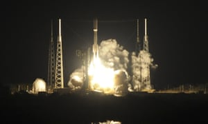 An Atlas V rocket lifts off from Cape Canaveral