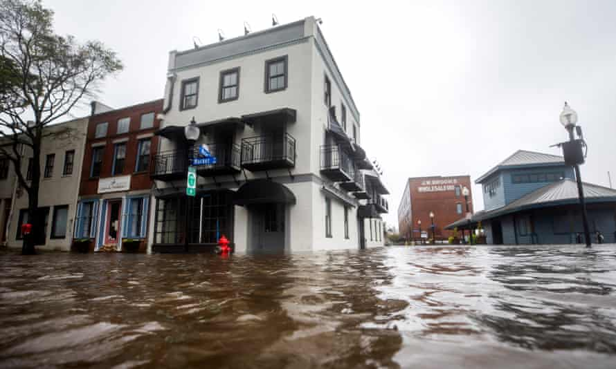 Flooding in Wilmington, North Carolina during Hurricane Florence in September 2018.