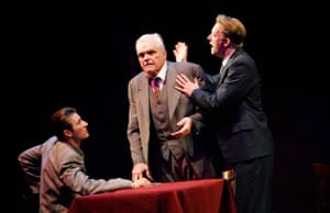 Brian Dennehy, centre, with Mark Bazeley and Douglas Henshall in Death of a Salesman at the Lyric in 2005