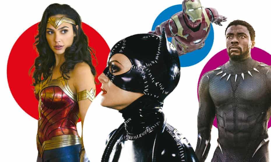 Power dressing: (l-r) Wonder Woman; Catwoman; Iron Man; Black Panther.