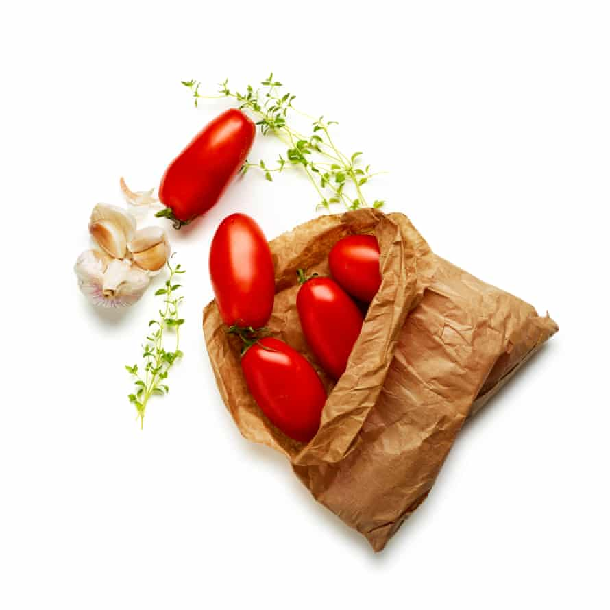 Your choice of tomato is vital to the success of this dish – go for plum, ideally, because they release less liquid