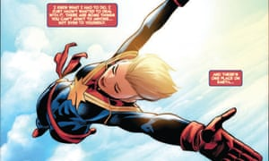 Pages from The Life of Captain Marvel, written by Margaret Stohl.