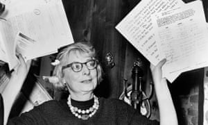 Jane Jacobs at a press conference in Greenwich Village in 1961.