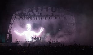 Suffolk: Chemical Brothers on the Obelisk Stage at Latitude Festival, Henham Park