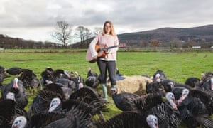 Elin William: 'From the moment I started strumming, the turkeys crowded round.'