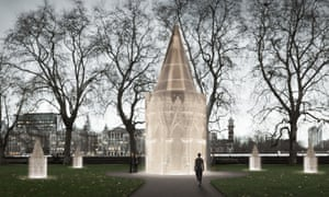 The design submitted by Rachel Whiteread, Caruso St John and Marcus Taylor, Holocaust Memorial London project rendering / artists impression