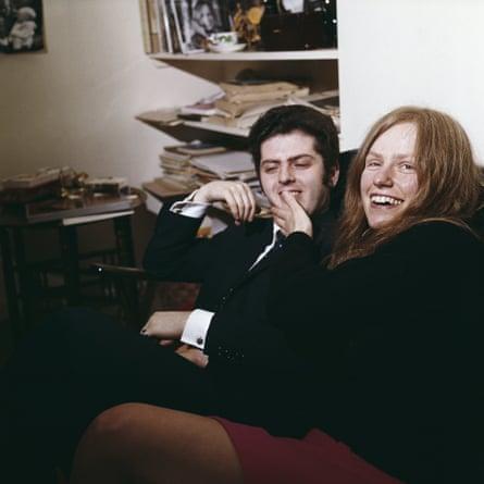 Daniel Barenboim and Jacqueline du Pré at their London home in 1973.