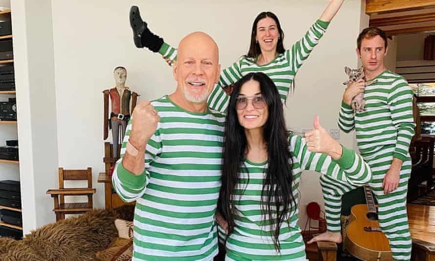 Bruce Willis, Demi Moore and family. Photograph: Instagram