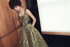 Brocade at Prada, dress, £2,315, and belt, £280 ( )