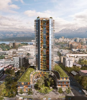 The planned 40-storey Earth Tower, Vancouver, will be the world's tallest wood building.