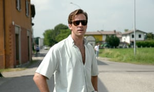 Armie Hammer as Oliver in Call Me By Your Name.