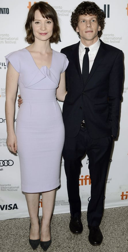 Actors Mia Wasikowska and Jesse Eisenberg