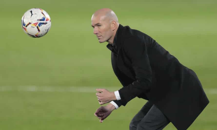 Zinedine Zidane, seen here during Real Madrid's home defeat by Alavés last weekend, says: 'We'll sort this out, for sure.'