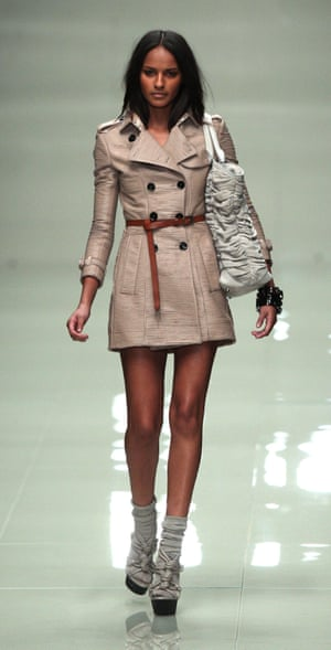 A model walks the catwalk for the Burberry Prorsum show in 2010 – the first ever at London fashion week to be live-streamed.