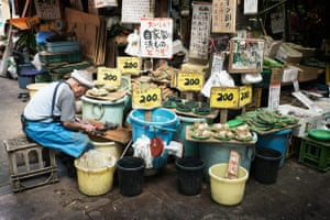 Pickled Japanese vegetables made daily the old way, in an old Tokyo shopping street in Minowa