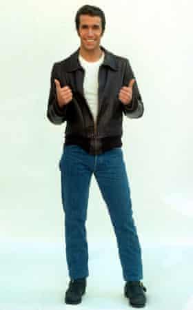 Henry Winkler as the Fonz.