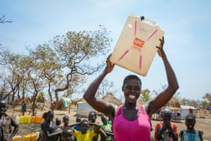 Angelina, 23, had just been sitting for her last exam in South Sudan when she quickly had to flee. Now she is living in Bidi Bidi