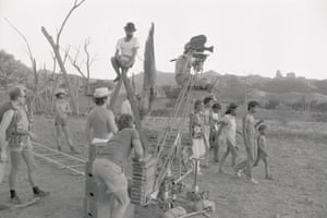 The shoot for David Bowie's music video, Let's Dance, in rural New South Wales.