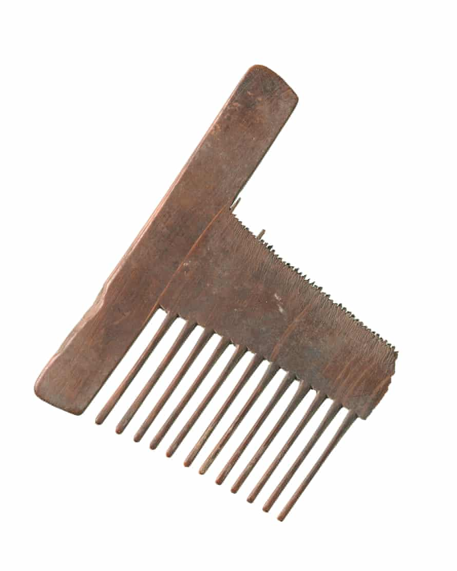A comb was among the artefacts found at the site.