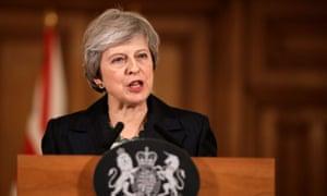 Britain's Prime Minister Theresa May holds a news conference at Downing Street in London, Britain November 15, 2018. Matt Dunham/Pool via Reuters