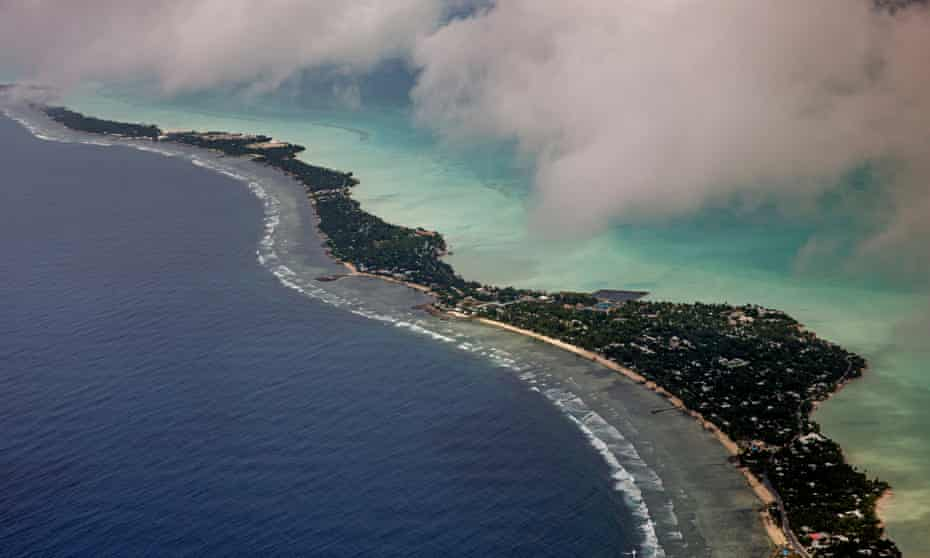 Experts warn places such as the Tarawa atoll in Kiribati could become uninhabitable due to rising sea levels without urgent action on greenhouse gas emissions