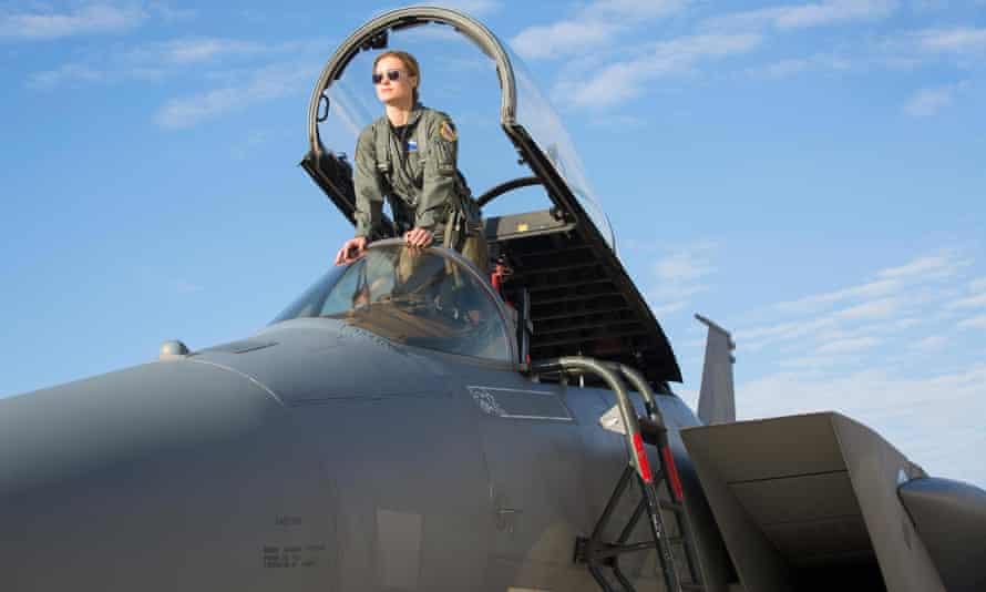 Girls will never be stronger than boys ... Brie Larson in Captain Marvel.
