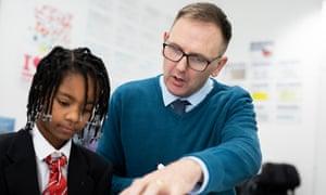 Pupil and teacher at University of Birmingham school