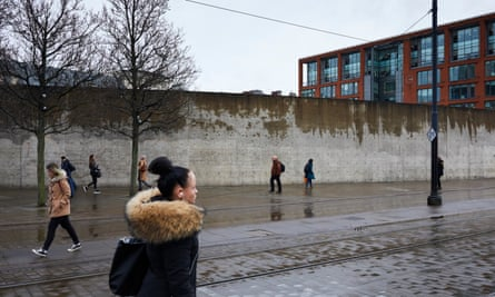 The wall in Piccadilly Gardens, Manchester, in January 2020.