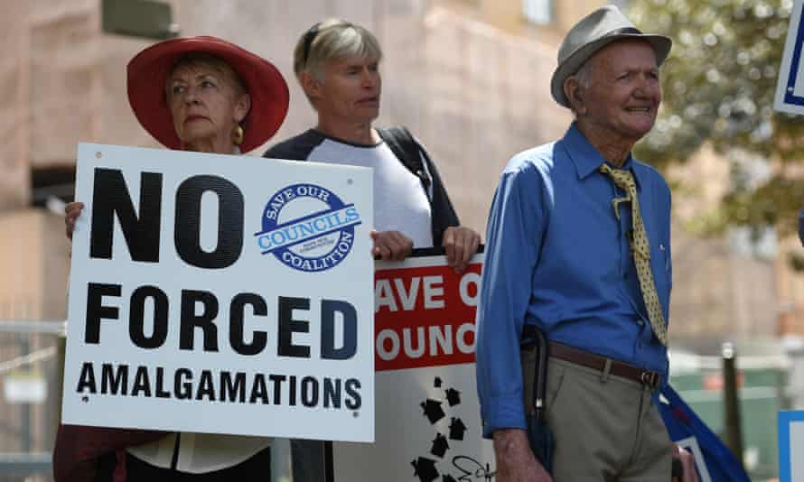 Council amalgamations protest