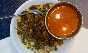 a dish of kushari in Cairo.