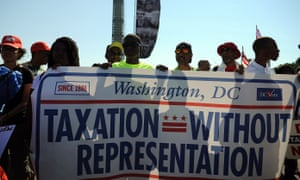 Washington DC residents call for change in 2013.
