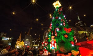 Melbourne's Christmas tree of Lego