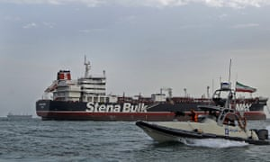 A Revolutionary Guards speedboat approaching the Stena Impero in July.