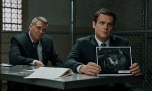 Encountering evil … Holt McCallany, left, and Jonathan Groff in Mindhunter.