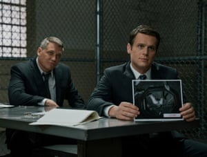 All about the relationships … Groff as Ford with Holt McCallany's Bill Tench.
