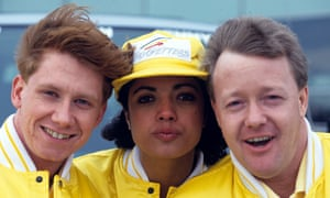 Simon Parkin, Jenny Powell and Keith Chegwin in Go Getters