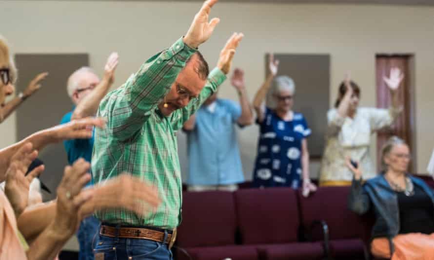 The evangelical Pinal County Cowboy Church in Casa Grande, Arizona.