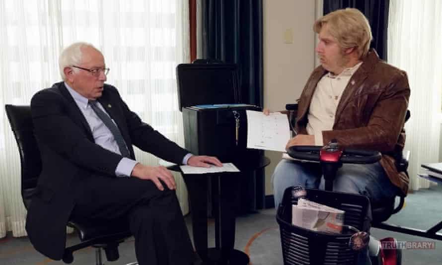 Bernie Sanders and Sacha Baron Cohen in Who is America?