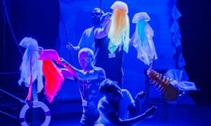 Rave jellyfish at the underwater disco.