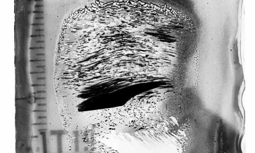 A damaged image from the National Archives.