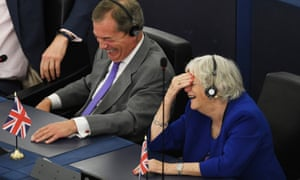 In turning their backs, Brexit MEPs behaved like attention-seeking