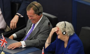 Nigel Farage and Ann Widdecombe