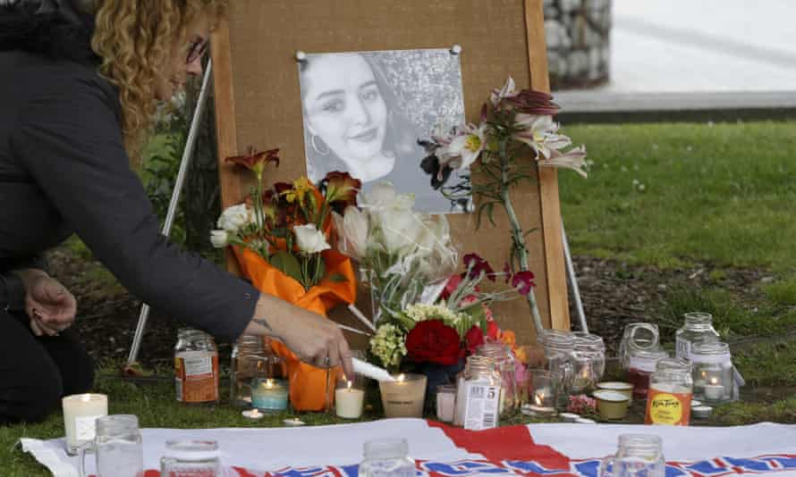 Tributes are placed at a memorial for Grace Millane after her killing in December 2018 in Auckland, New Zealand.